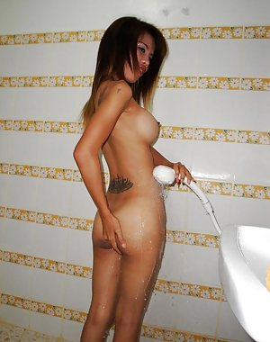 Asian in Shower